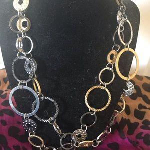 Lia Sophia fall multicolor long necklace